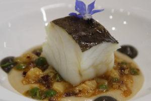 Callos y foie de bacalao con guisantes y morcilla, premio Giraldo al mejor plato de bacalao 2017